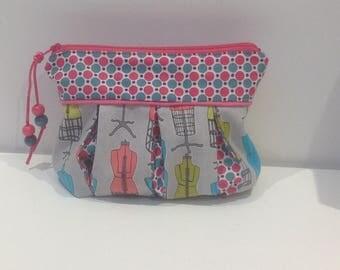 Bag, clutch bag with models