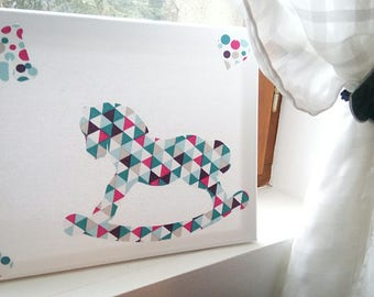 hand-knitted kids deco frame