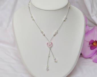 "Wedding necklace, ceremony or party ""Melody"" swarovski pearls"
