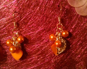 color cluster earrings gold