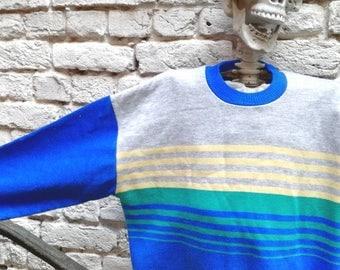 Vintage 80's contrasting banded Sweatshirt