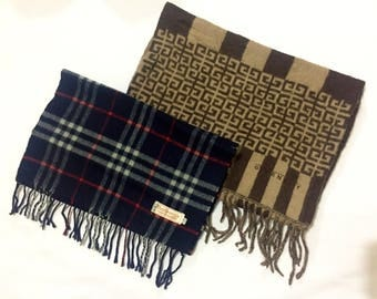 Givenchy & Burberry's -scarf-winter-nice design-cashmere/wool