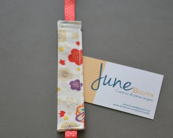 Pacifier clip fabric flowers Japanese style