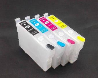 Empty T252 refillable Ink Cartridge Epson Auto reset WF3640 WF3630 WF3620  WF7610 WF7620 WF7110