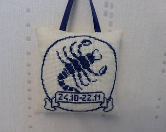 Pillow - Scorpio zodiac sign
