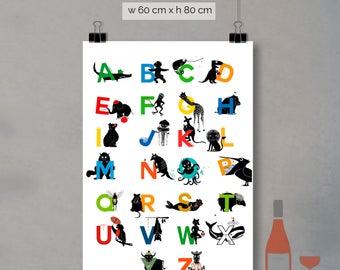 print - alphabet letters (60 x 80cm)