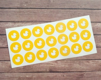 24 stickers stickers round yellow duck
