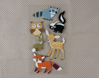 """""""Forest animals"""" sheet of stickers 3D"""