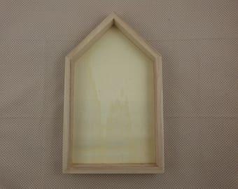 Homemade wooden frame, blank
