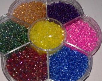 seed beads multicolored, seed beads, box beads, box beads