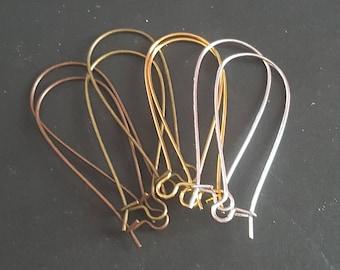 40 hooks sleepers earrings 4 mm 36 colors