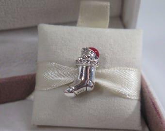 Genuine Pandora Christmas Stocking Charm 791773CZ