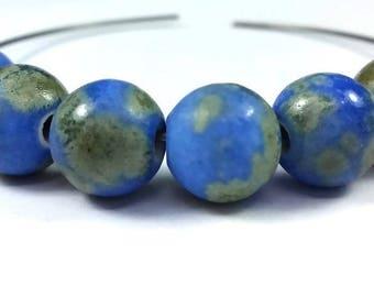 Matte blue / gray / khaki: 10 (pc137) 10mm ceramic beads