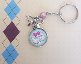 """Gift for MOM: """"Lovely MOM"""" keychain"""