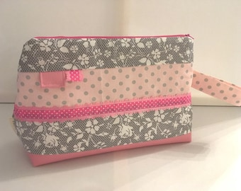 Pink and gray your travel toiletry case