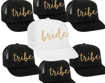 bride & tribe - bridal party trucker hats