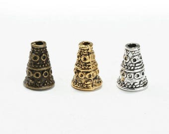 50pcs beads caps of Tibetan Cone end within 15 days