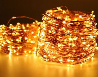 100 LEDs, 10 meters,  Fairy Lights, Wedding Decorations lights, LED Mason Jar light Wedding Decor, firefly Lights, Halloween fairy lights