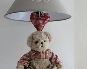 Boy Teddy bear lamp