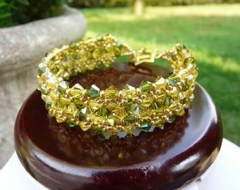 Rustic bracelet Swarovski Crystal