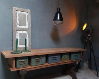 Sturdy industrial side TV furniture cast iron legs