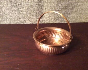 Solid Brass Basket with Movable Handle