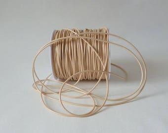 Cord of wax-wax - Beige / Cream 2 mm - 5 meters
