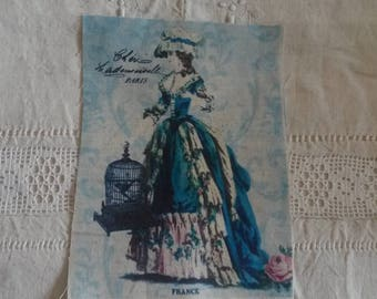 Vignette of retro fabric / print on cotton