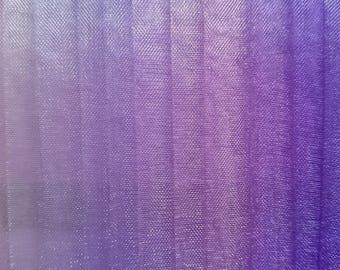 Set of 15 strips organza color Pink / Purple