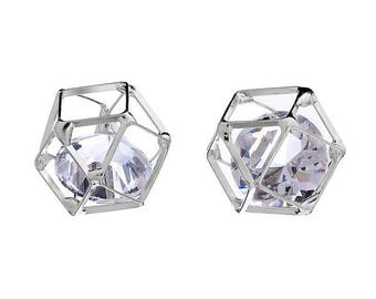 Cage shape polygon Crystal for jewellery accessory 15mm necklace pendant