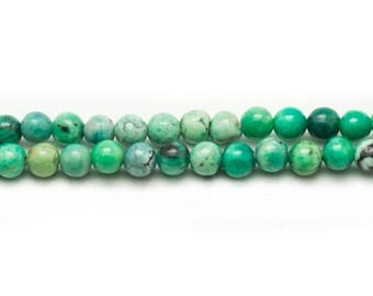 20pc - stone beads - green Turquoise 4mm Mint 4558550021861 balls