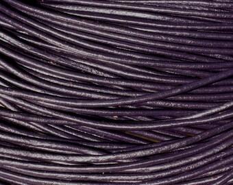 5 m - blue 2mm 4558550006073 Indigo purple leather cord