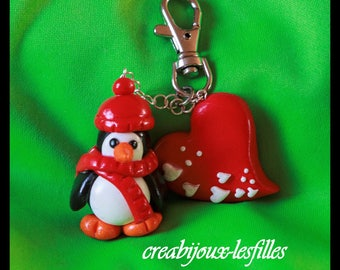 Pingu heart jewelry jewelry birthday gift bags jewelry Fimo delicious polymer clay.