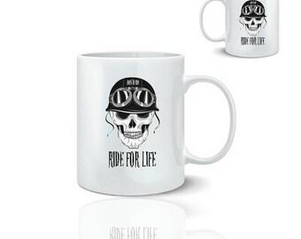 Biker - ceramic mug mug 325 ml