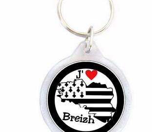 Brittany key - I love breizh