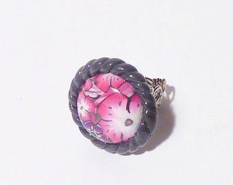 Ring La Vie en Rose ° ° round flowers