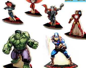 LOWE'S - Lot of 6 Build and Grow MARVEL AVENGERS Wooden Kits - Hulk Thor