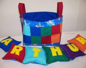 Customized Bean Bags and Basket