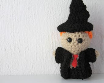 Harry Potter Character - Ron - READY TO SHIP - Amigurumi Plushie