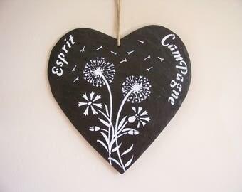 "Decorative slate sign, sign, Garden decoration ""country spirit"""