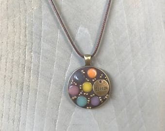 Dreaming Mosaic Pendant Necklace