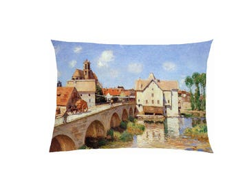 Pillow in satin reproduction painting fully customizable ref 505