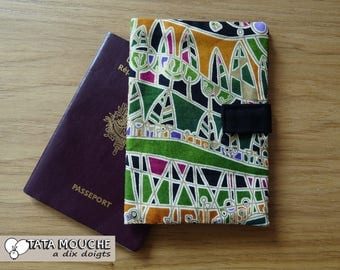 Passport cotton Green Black and gold