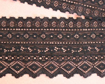 geometric and flower lace