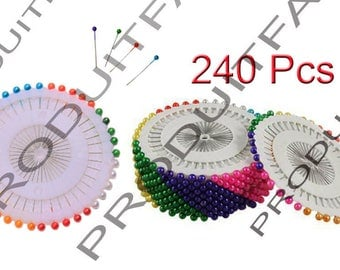 240 pins to head ball seam 38 mm 8 color Patchwork fabrics