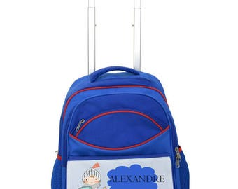 "Kids backpack with wagon ""Knight"" personalized"