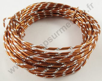 Engraved aluminum Ø 2mm x 1 m - copper - wire