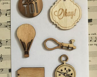 Embellishments wood Vintage