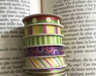 Set of 6 ribbons Multicolors