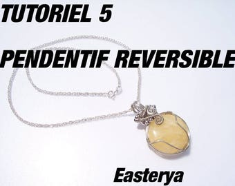 Tutorial 5 wire wrapped reversible pendant
